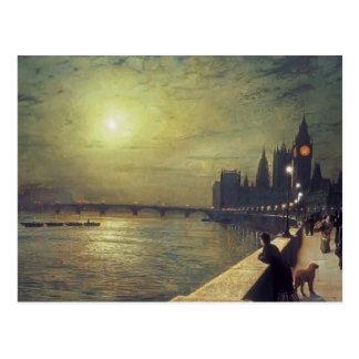 Reflexiones de Juan Grimshaw- en el Thames Tarjetas Postales