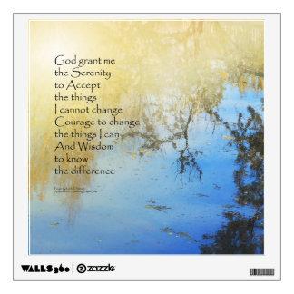 Reflexiones de la charca del rezo de la serenidad