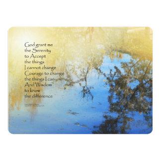 """Reflexiones de la charca del rezo de la serenidad invitación 6.5"""" x 8.75"""""""