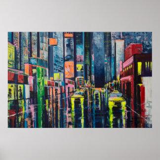 Reflexiones de la ciudad póster
