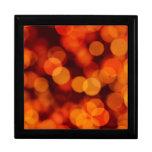 Reflexiones de la luz anaranjadas cajas de joyas