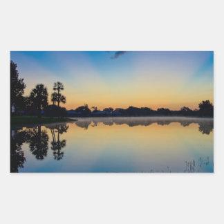 Reflexiones de la madrugada pegatina rectangular