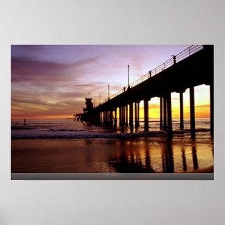 Reflexiones de la marea baja en el ocaso, Huntingt Poster