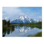 Reflexiones de la montaña de Teton Postales