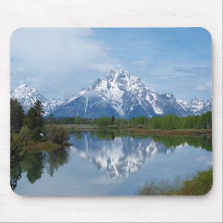 Reflexiones de la montaña de Teton Alfombrillas De Ratones