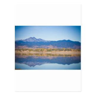 Reflexiones de la montaña rocosa de Colorado Tarjetas Postales