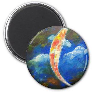 Reflexiones de la nube del estanque de peces de Ko Imán Redondo 5 Cm