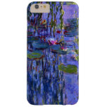 Reflexiones de la púrpura de la charca del lirio funda de iPhone 6 plus barely there