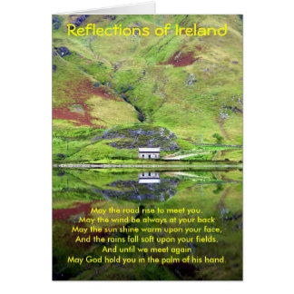 Reflexiones de la tarjeta de Irlanda