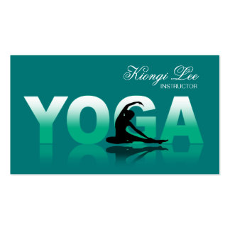 Reflexiones de la yoga, instructor de la yoga, tarjetas de visita
