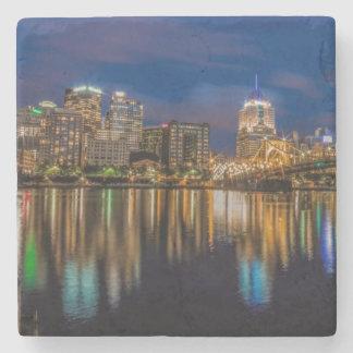 Reflexiones de Pittsburgh Posavasos De Piedra