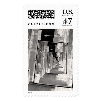 Reflexiones de un callejón infrarrojo sello postal