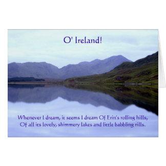 Reflexiones de un sueño: Tarjeta irlandesa del