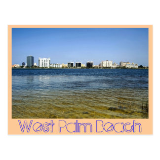 Reflexiones de West Palm Beach del lago claro Postales