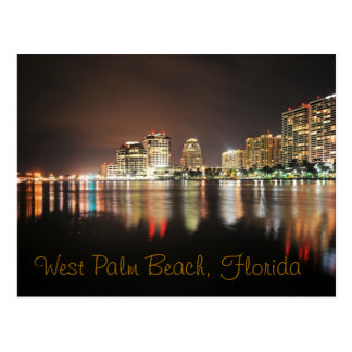 Reflexiones de West Palm Beach en la noche Postal