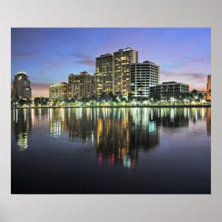 Reflexiones de West Palm Beach la Florida Póster