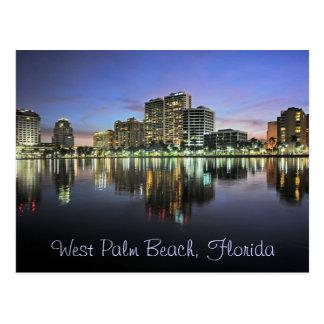 Reflexiones de West Palm Beach la Florida Tarjeta Postal