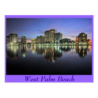 Reflexiones de West Palm Beach, la Florida Tarjeta Postal