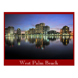 Reflexiones de West Palm Beach, la Florida Tarjetas Postales