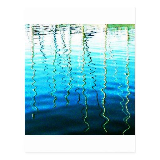 reflexiones del agua tarjeta postal