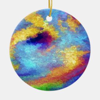 Reflexiones del arco iris en agua adorno de reyes