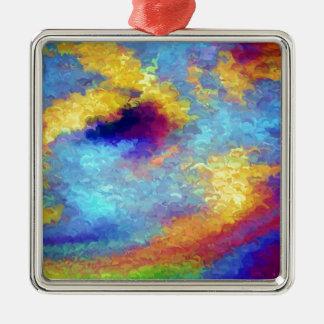 Reflexiones del arco iris en agua ornamentos de reyes magos
