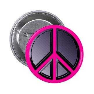 Reflexiones del botón de la paz pin redondo de 2 pulgadas
