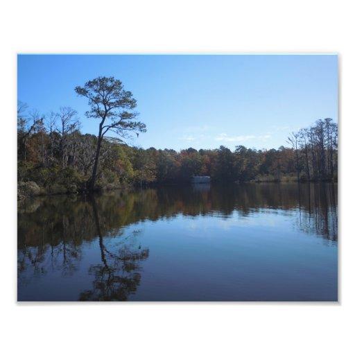 Reflexiones del cielo y del agua - el condado de B Impresiones Fotograficas