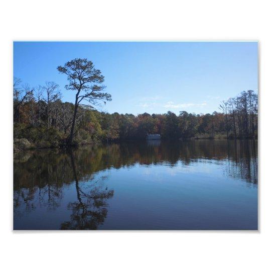 Reflexiones del cielo y del agua - el condado de cojinete
