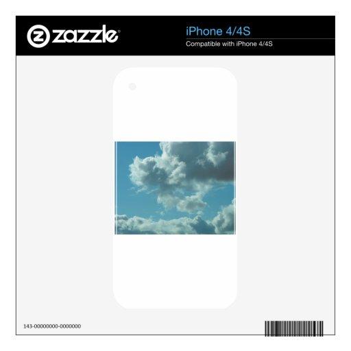 Reflexiones del cielo y del agua iPhone 4S calcomanías