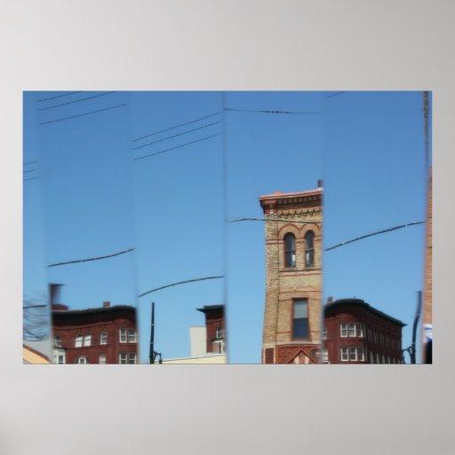 Reflexiones del comensal con el poster de los edif