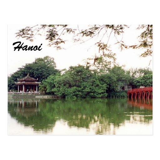 reflexiones del lago de Hanoi Tarjeta Postal