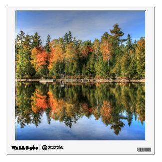 Reflexiones del lago fall Foliage del otoño de Vinilo Adhesivo