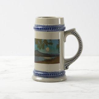 Reflexiones del lago tazas de café