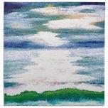 Reflexiones del océano - danza ligera en las servilleta imprimida