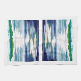 Reflexiones del océano - diseño de la toalla de pl