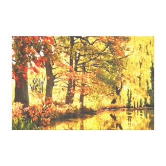 Reflexiones del otoño impresion en lona
