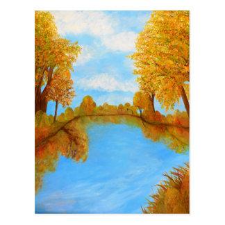 Reflexiones del otoño postales