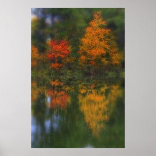 Reflexiones del otoño póster