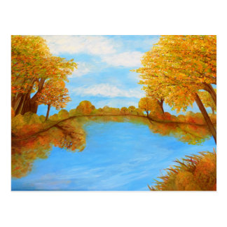 Reflexiones del otoño tarjeta postal