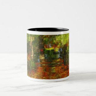 Reflexiones del otoño taza de café de dos colores