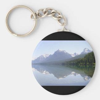 Reflexiones del parque del glaciar llavero redondo tipo pin