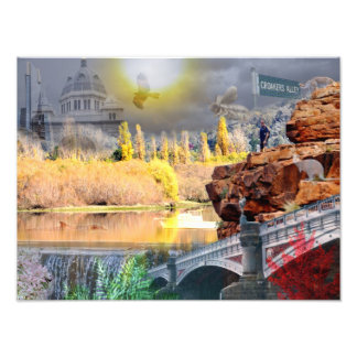 REFLEXIONES del poster de la belleza de la onza Mt Fotografias