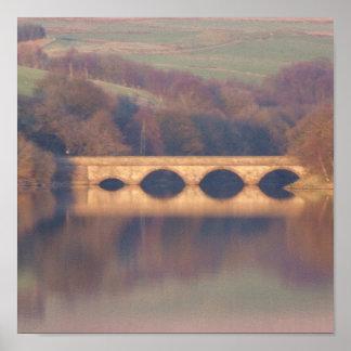 Reflexiones del puente póster