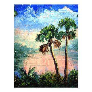 """Reflexiones del río de la palma de col folleto 8.5"""" x 11"""""""