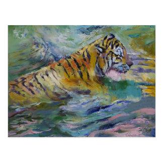 Reflexiones del tigre postal