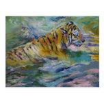 Reflexiones del tigre tarjetas postales