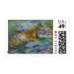 Reflexiones del tigre timbres postales