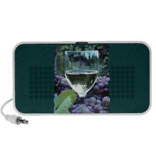 Reflexiones del vino blanco mini altavoces