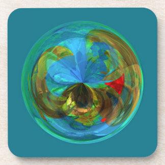 Reflexiones dentro del globo posavasos de bebidas